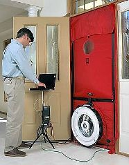 Energy Rebates Blower Door Test
